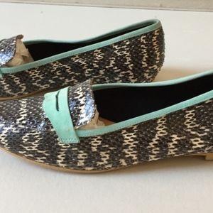 APERLAI PARIS Shoes - APERLAI PARIS RONDINE SERPENTINE SNAKESKIN FLATS